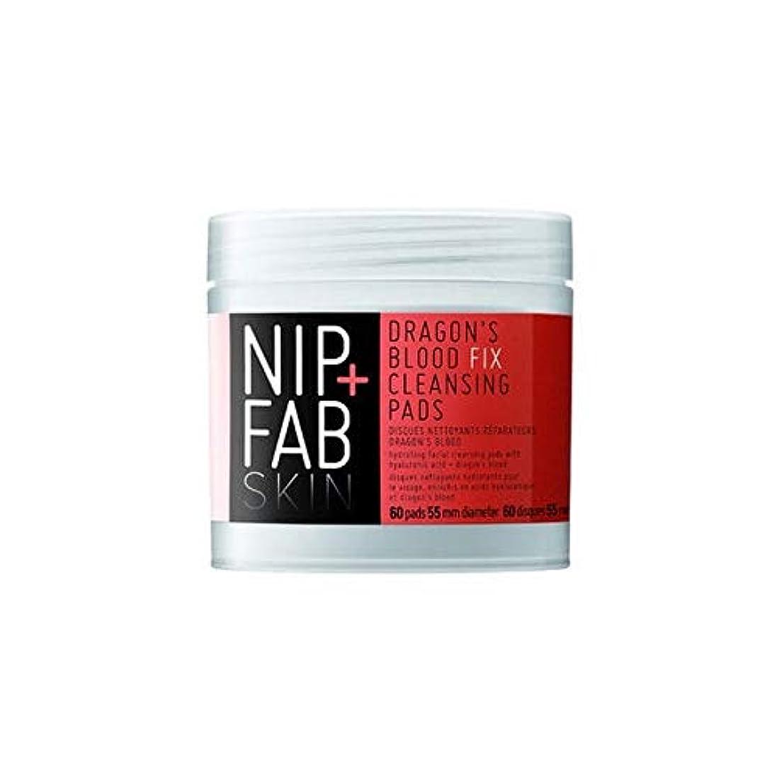 必要条件近傍抹消[Nip & Fab] + Fabドラゴンの血修正クレンジングパッドX60ニップ - Nip+Fab Dragons Blood Fix Cleansing Pads x60 [並行輸入品]