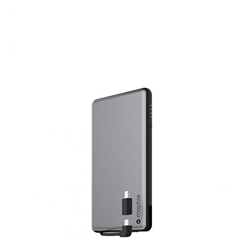 mophie powerstation plus ユニバーサル モバイル バッテリー 6,000mAh Apple iPhone/iPod/iPad (スペースグレイ)