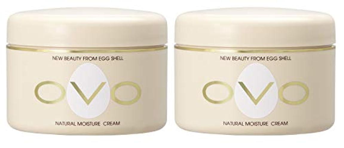 不利益増幅する融合ovo オーヴォ ナチュラルモイスチュアクリーム 卵殻エキス配合 天然素材由来の低刺激スキンケア 150g 2個セット