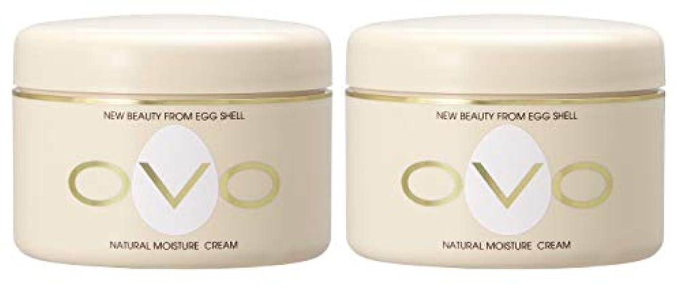 パットかみそりカリングovo オーヴォ ナチュラルモイスチュアクリーム 卵殻エキス配合 天然素材由来の低刺激スキンケア 150g 2個セット