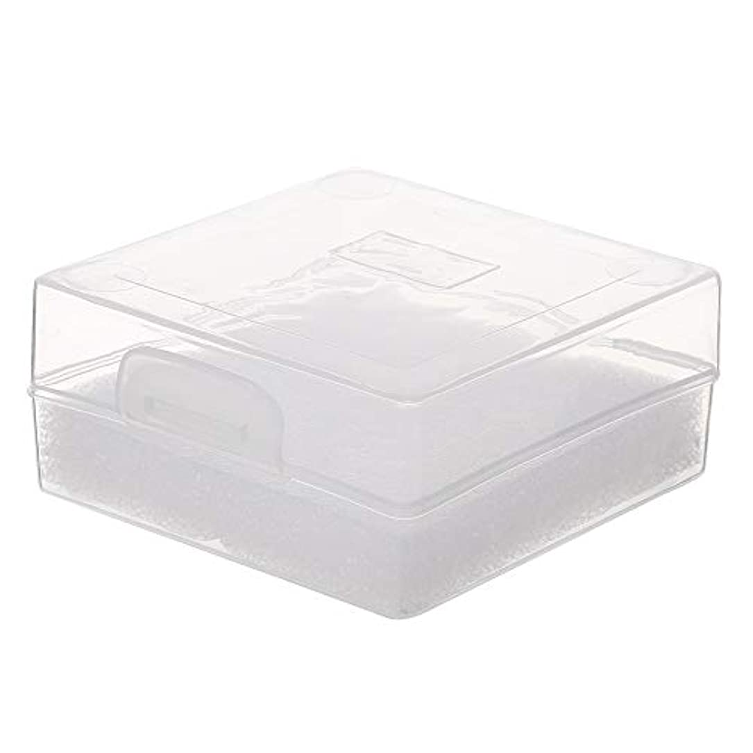 メッシュ平等コンセンサスDecdeal 100穴 研削ヘッドボックス ネイルドリルビットホルダー ネイル製品用ネイルツールストレージコンパクト便利な透明