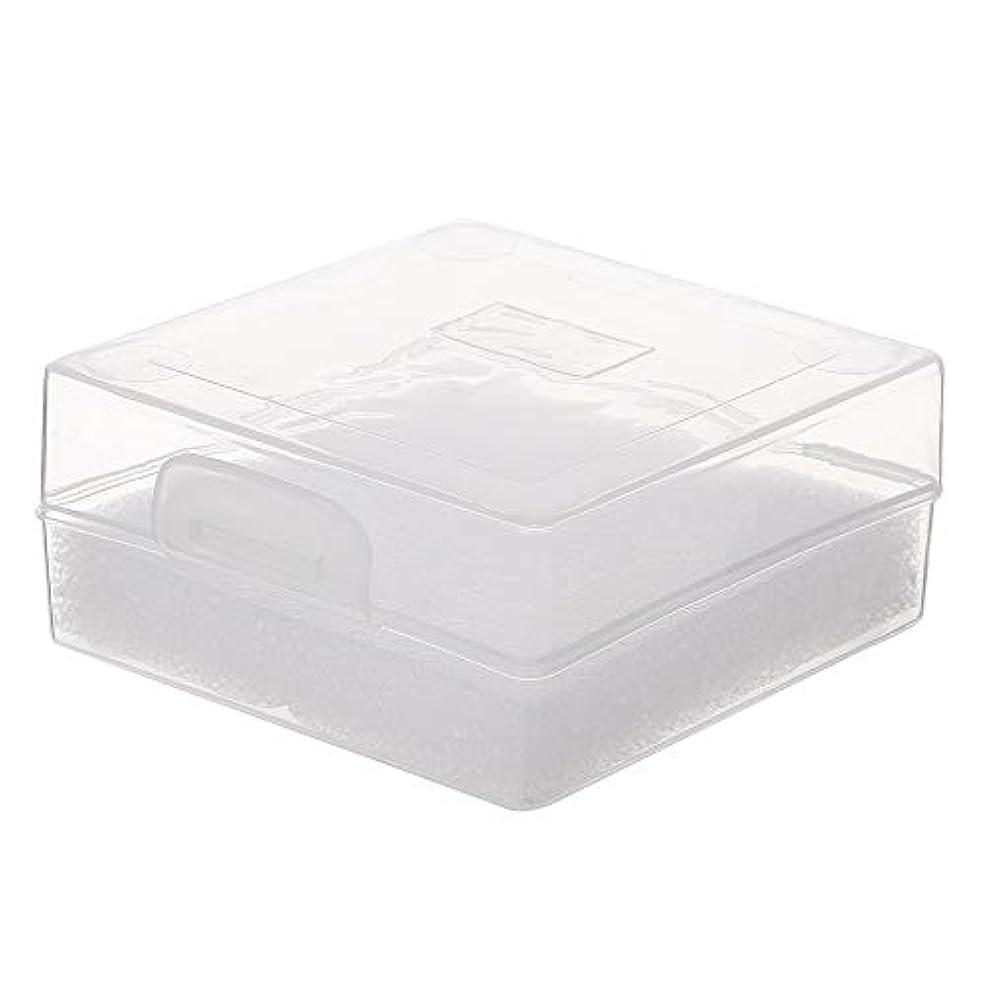流体電卓球体Decdeal 100穴 研削ヘッドボックス ネイルドリルビットホルダー ネイル製品用ネイルツールストレージコンパクト便利な透明