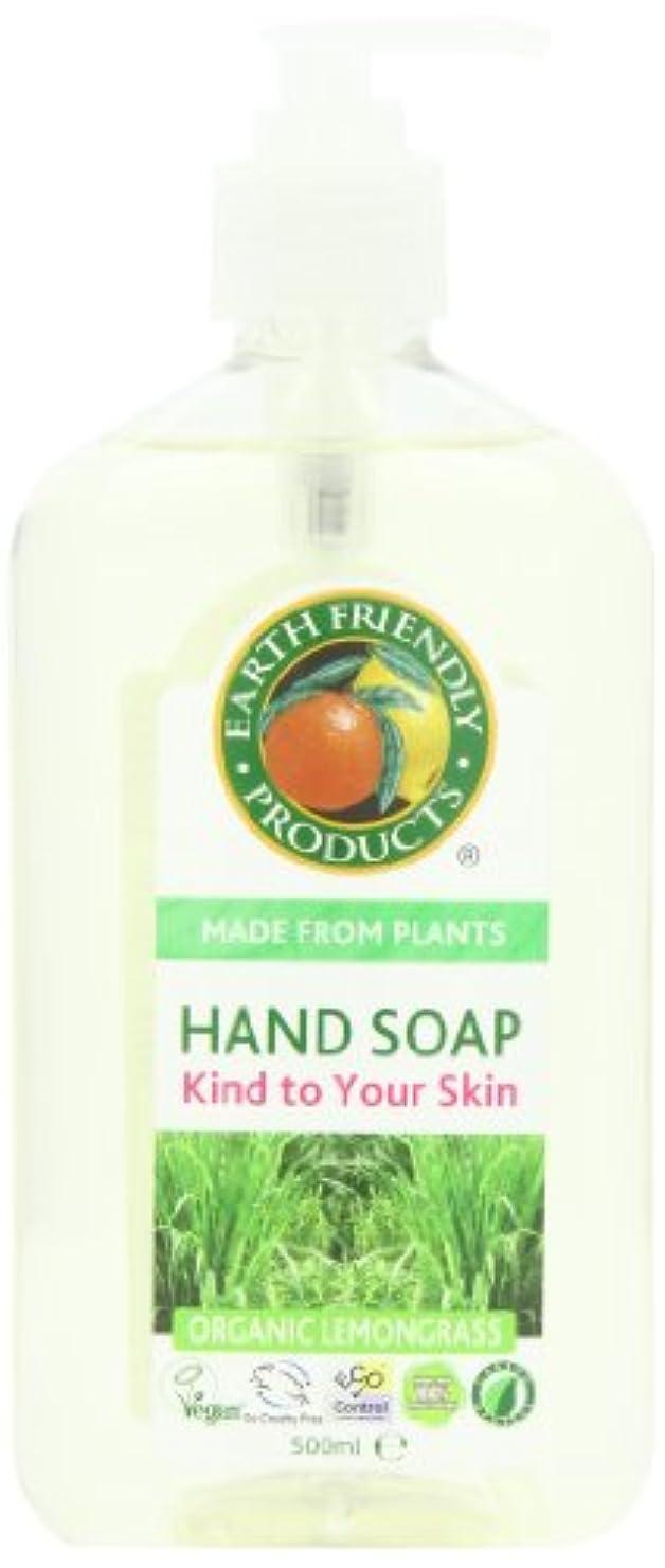 だます送る咽頭Earth Friendly Products, Hand Soap, Organic Lemongrass, 17 fl oz (500 ml)