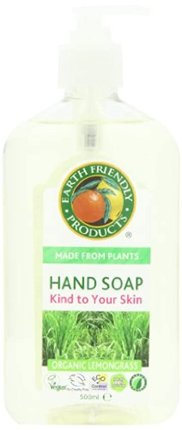 頭蓋骨ウールリブEarth Friendly Products, Hand Soap, Organic Lemongrass, 17 fl oz (500 ml)