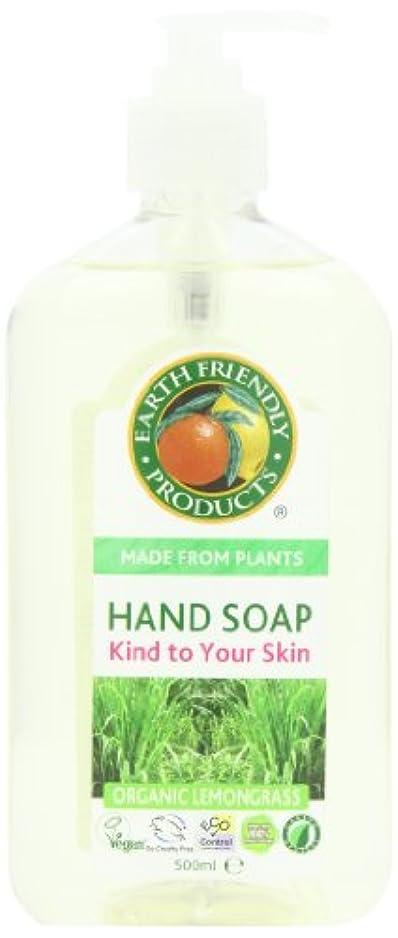 頭ミリメーター助けてEarth Friendly Products, Hand Soap, Organic Lemongrass, 17 fl oz (500 ml)