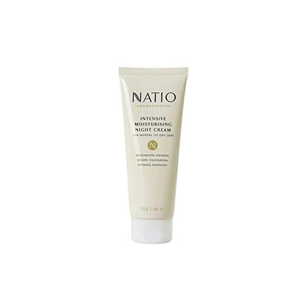喉が渇いた八百屋さん洋服集中的な保湿ナイトクリーム(100グラム) x4 - Natio Intensive Moisturising Night Cream (100G) (Pack of 4) [並行輸入品]