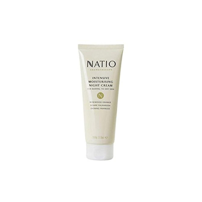 幻想杭プランター集中的な保湿ナイトクリーム(100グラム) x4 - Natio Intensive Moisturising Night Cream (100G) (Pack of 4) [並行輸入品]