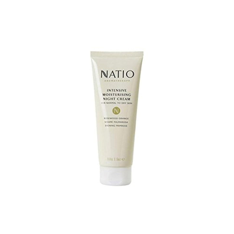 アンタゴニスト邪魔する嫌悪集中的な保湿ナイトクリーム(100グラム) x4 - Natio Intensive Moisturising Night Cream (100G) (Pack of 4) [並行輸入品]