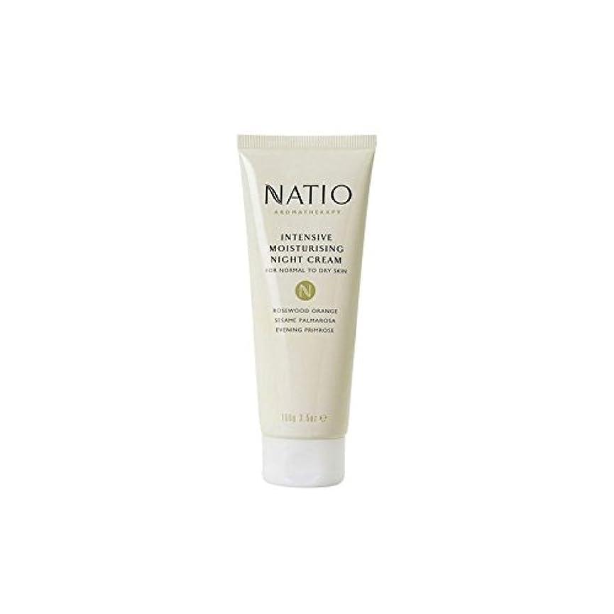 適切なテメリティの間で集中的な保湿ナイトクリーム(100グラム) x4 - Natio Intensive Moisturising Night Cream (100G) (Pack of 4) [並行輸入品]
