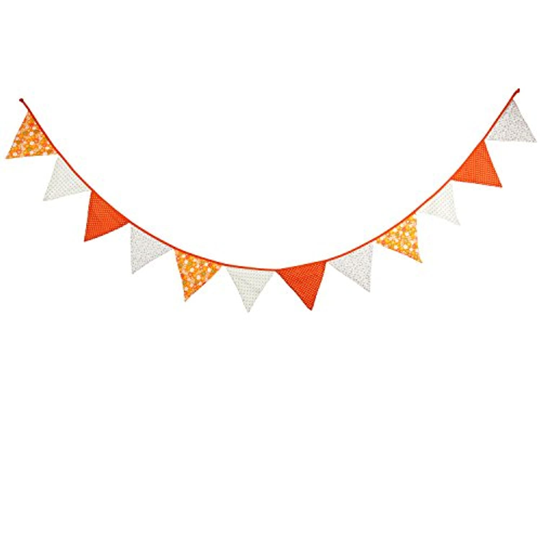 フラッグガーランド(オレンジ)子供部屋 パーティー 謝恩会 グランピング 店舗飾り