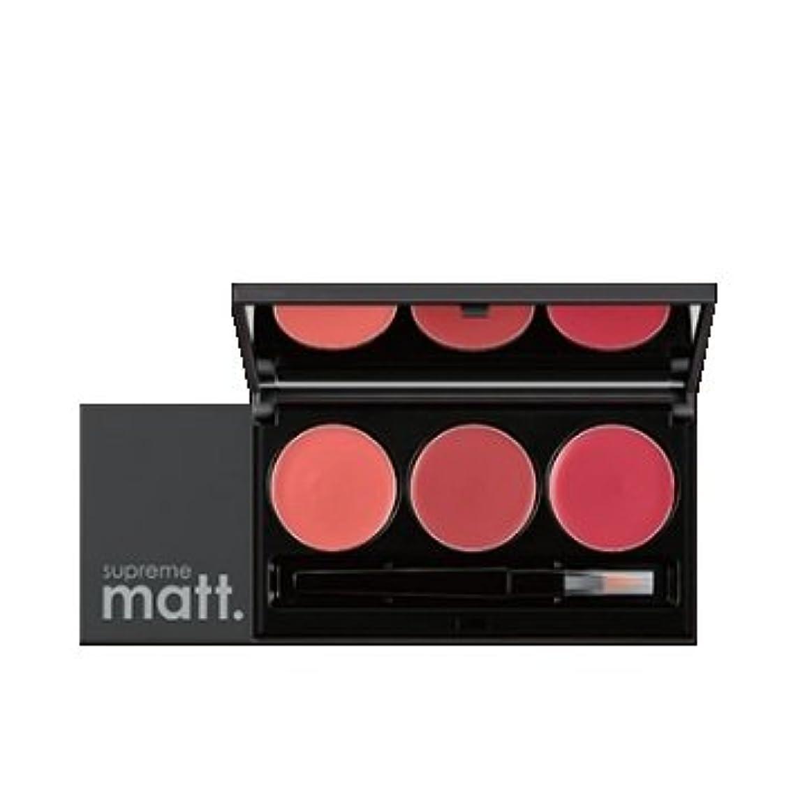 前けがをする仲良し[サンプル] MISSHA Supreme Matt Lip Rouge Lip Palette / ミシャ シュープリームマットリップルージュリップパレット [並行輸入品]