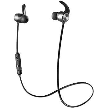 Bluetoothイヤホン 無線ステレオイヤホン 低音 + フルHD音、採用 防汗防滴 スポーツ仕様 外れにくい 無線 ヘッドホン ハンズフリー通話,内蔵式マイク[国内正規品 / 1年保証] BTE05 ブラック