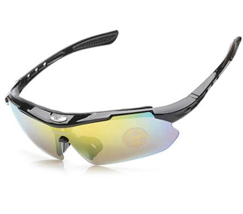 あなたはしがみつく間違い偏向レンズ 5枚交換 アウトドアサングラス スポーツサングラス フィッシング 自転車 ゴルフ 野球 登山