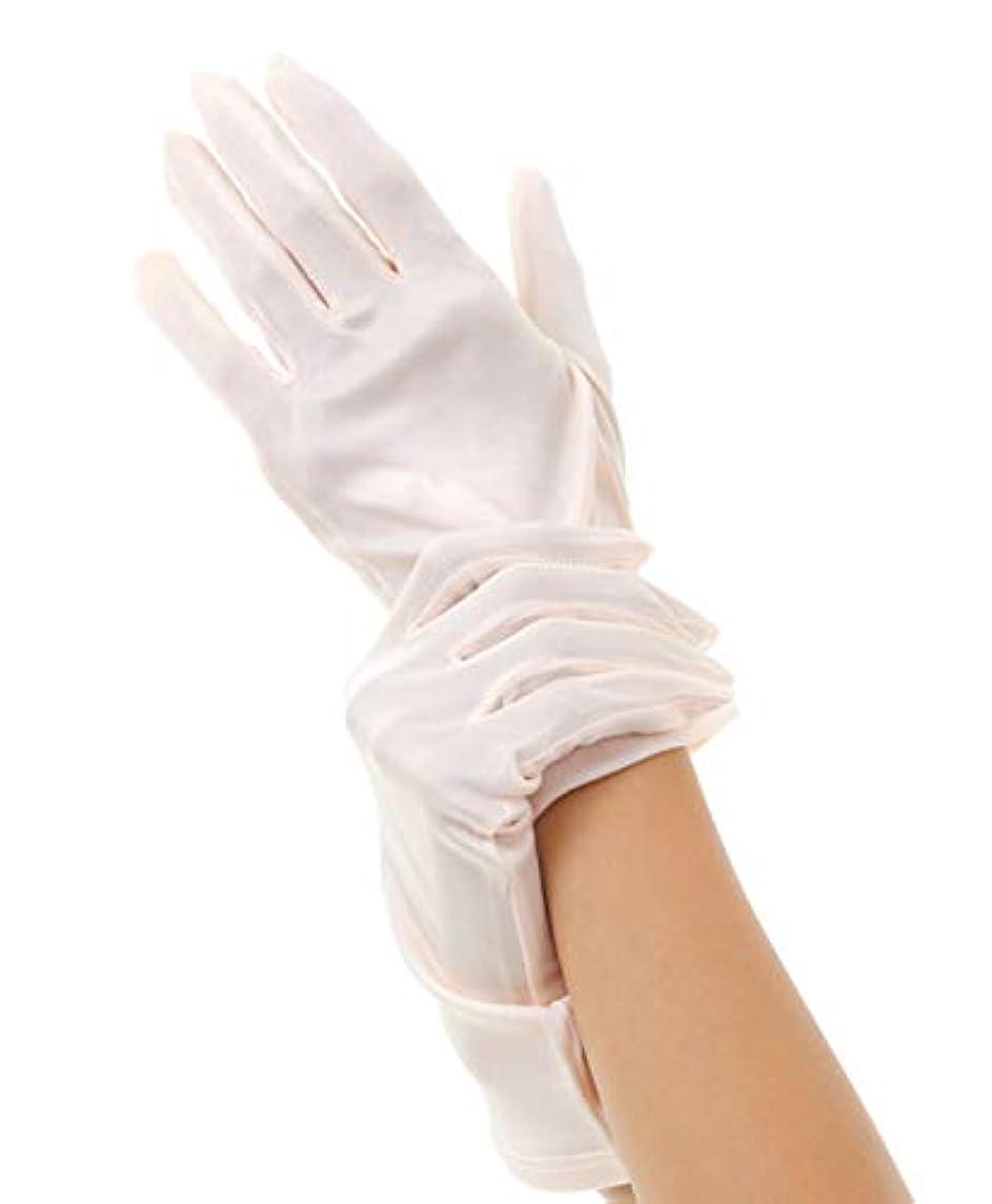 アルファベット酸度冷酷なハンドケア シルク 手袋 Silk 100% おやすみ スキンケア グローブ うるおい 保湿 ひび あかぎれ 保護 上質な天然素材 (M, ピンク)