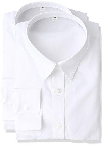 [セシール] シャツ 形態安定レギュラーカラーシャツ(長袖・2枚組セット) AN-974 レディース