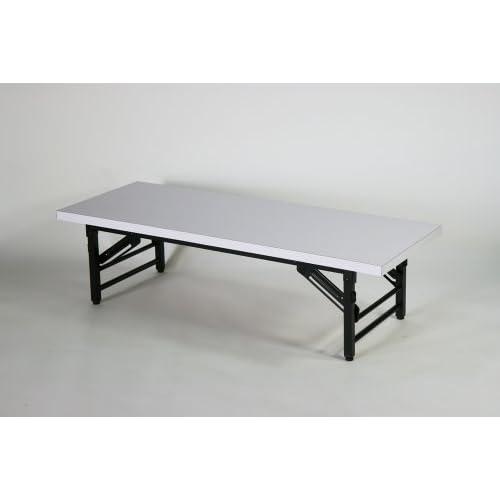 ■折畳み 会議テーブル 会議用テーブル 座卓(ロータイプ) ミーティングテーブル■7650S-WH■120x45x33cm■