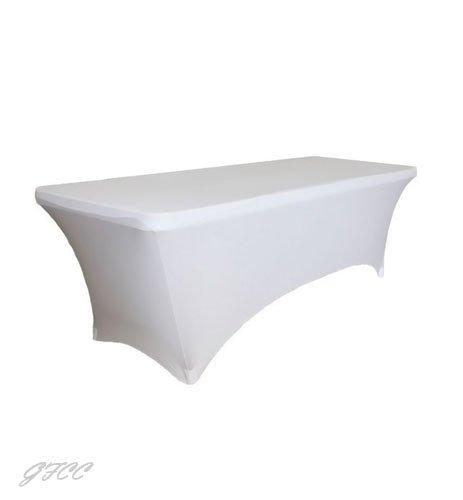 gfcc 6ftストレッチスパンデックスフィット伸縮性テーブルクロス、テーブルカバー( 2個入り) 8FT tablecloth ホワイト
