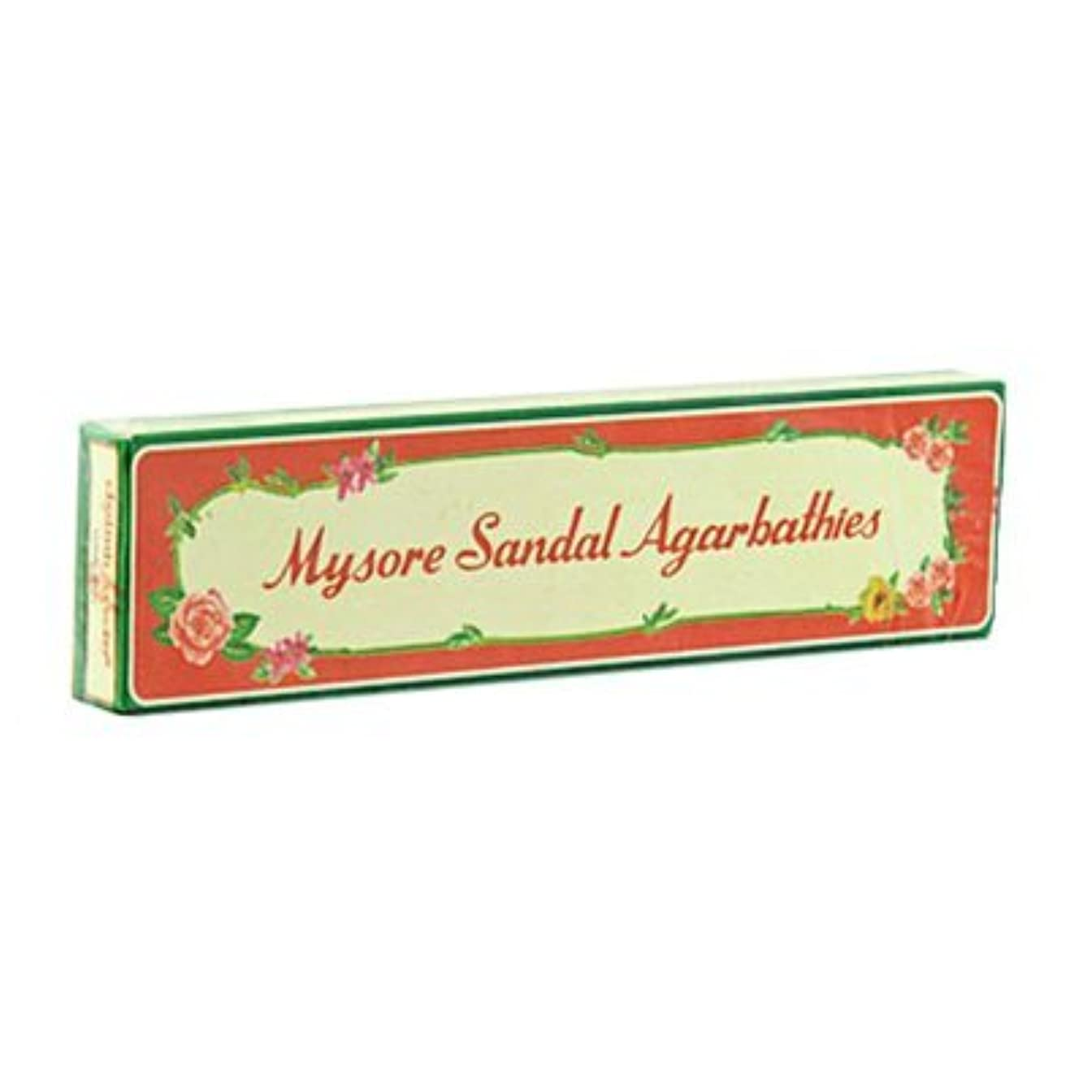 渇き特権的キャンパスMysore Sandal Incense – 6パック、20 Sticks perパック