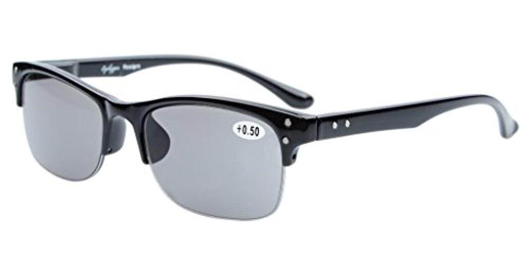 失敗カウンターパート王室アイキーパー(Eyekepper)屋外読書用 プラスチックフレーム バネ蝶番 ハーフリム リーディンググラス シニアグラス 老眼鏡
