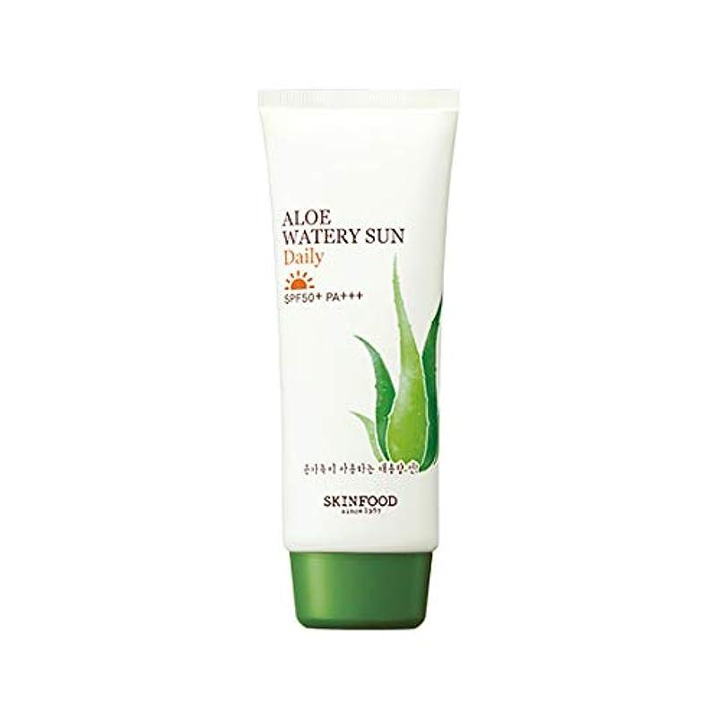 プレゼンター粉砕する動的Skinfood アロエウォーターサンデイリーSPF50 + PA +++ / Aloe Watery Sun Daily SPF50+ PA+++ 100ml [並行輸入品]