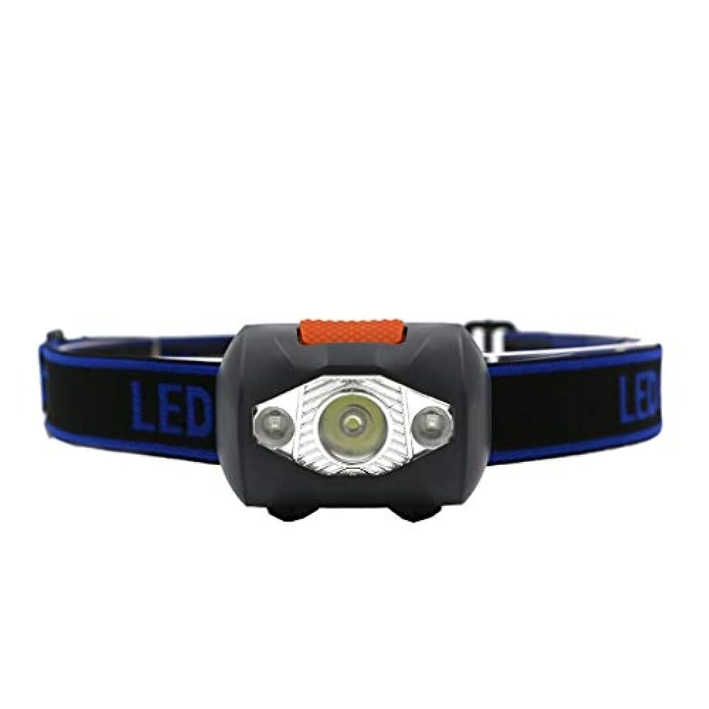 物質道徳のイサカNosterappou 屋外照明多機能ミニヘッドライト、夜間または雨天時のヘッドライトのライディング、4つの照明モード、300ルーメンのランプビーズ、IPX5レベルの日常生活用防水、登山用キャンプヘッドライト