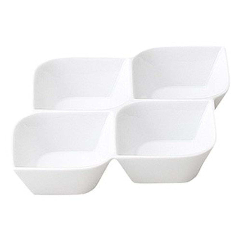 コリーン 4連菜鉢 [ L 17.7 x S 17.7 x H 3.5cm ] 【 仕切皿 】 【 飲食店 レストラン ホテル カフェ 洋食器 業務用 】