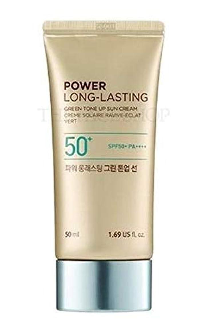 幸運なアパルだらしないザフェイスショップ/THE FACE SHOP Power Long-Lasting Tone Up Sun Cream (#01.Light Green) [並行輸入品]