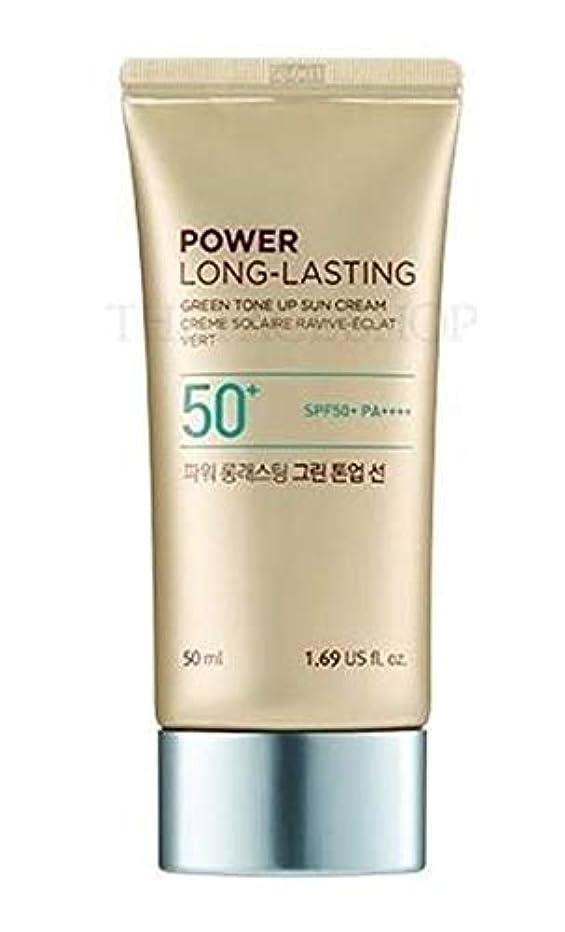 タオル調和のとれた新しさザフェイスショップ/THE FACE SHOP Power Long-Lasting Tone Up Sun Cream (#01.Light Green) [並行輸入品]