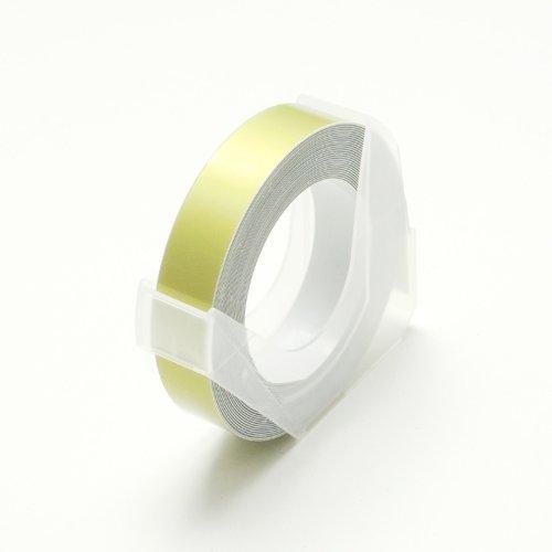 DYMO ダイモ 互換 マシューズ グロッシーテープ つやあり ゴールド 9mm×3m RM900-...