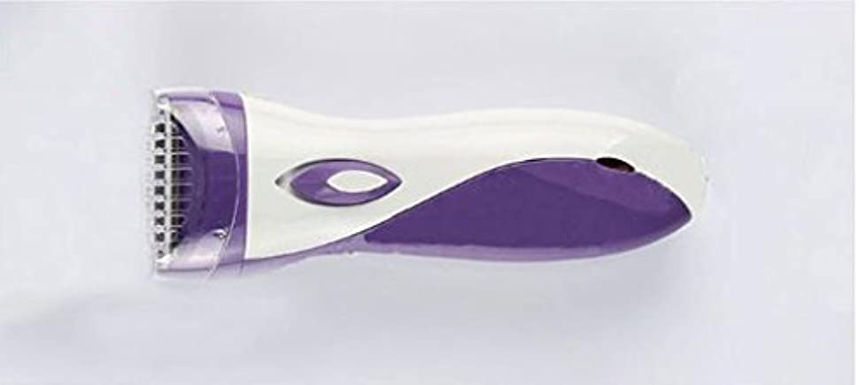 最初は繊毛積極的にレディースシェーバー, レディースシェーバーミニ女性の痛みのない髪のリムーバー充電式防水電気シェーバー2つのエクストラ (色 : Purple)