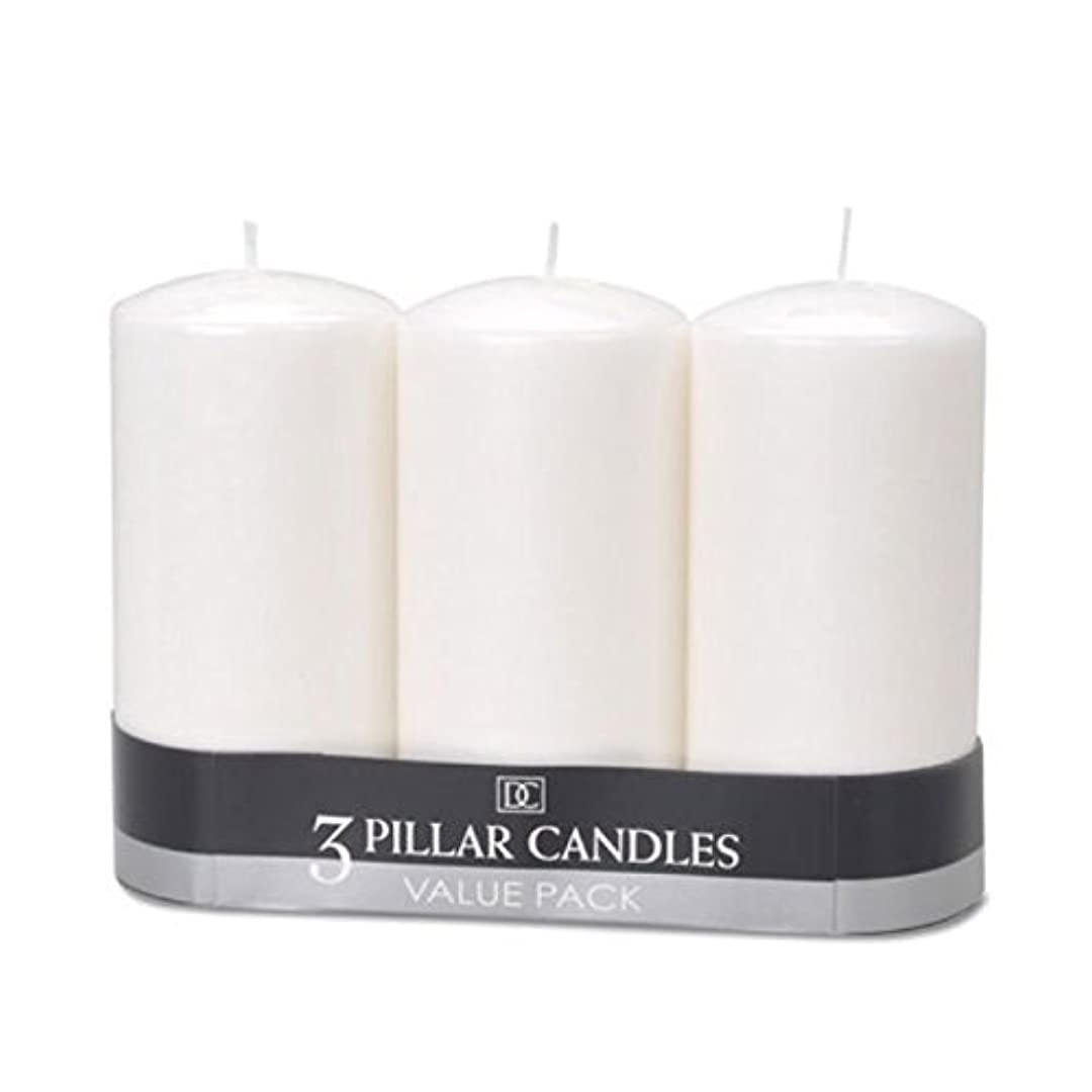 トレイビルダー勝者(2) - DYNAMIC COLLECTIONS 3 Pillar Candles value pack, White 2pk