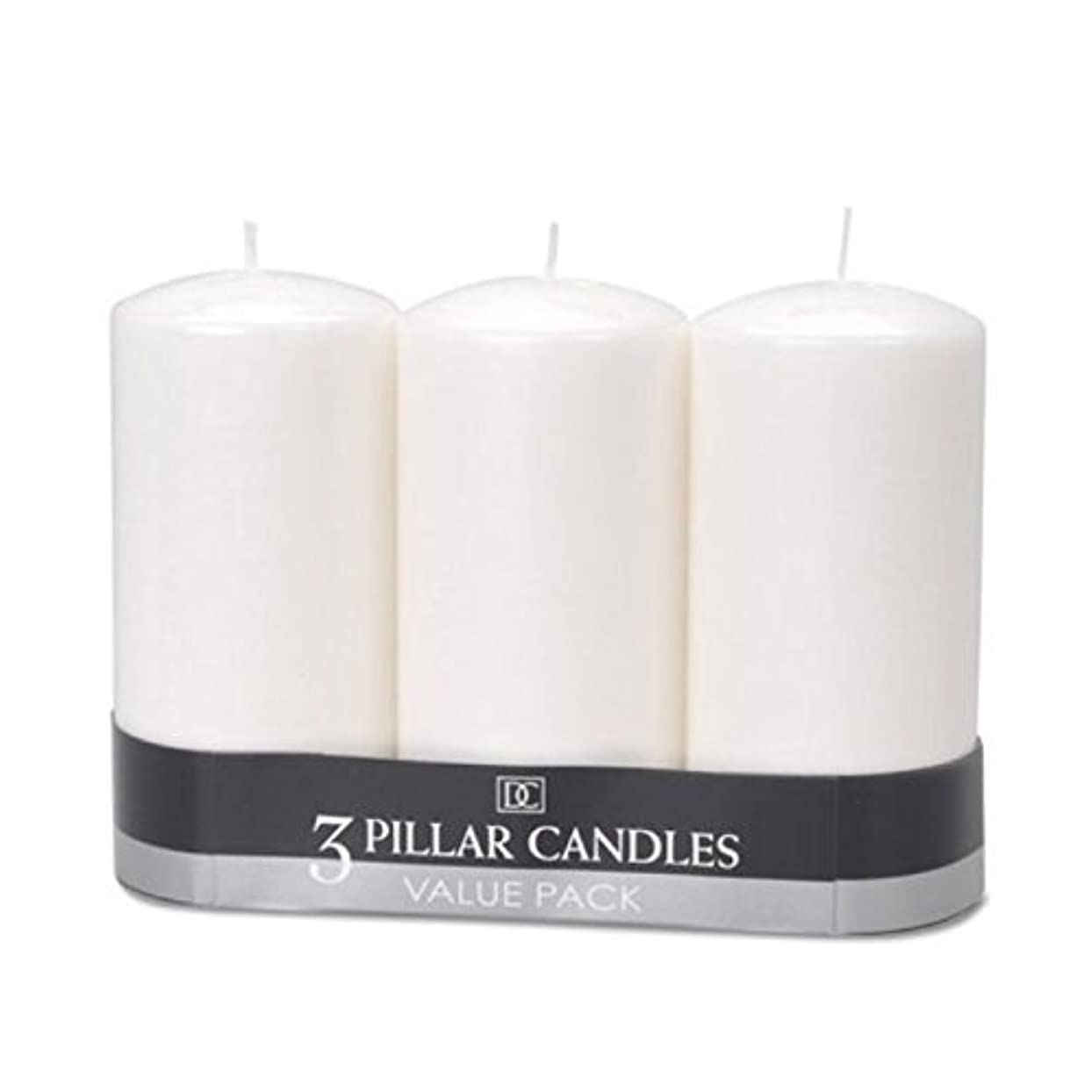 給料ハリケーンシート(2) - DYNAMIC COLLECTIONS 3 Pillar Candles value pack, White 2pk