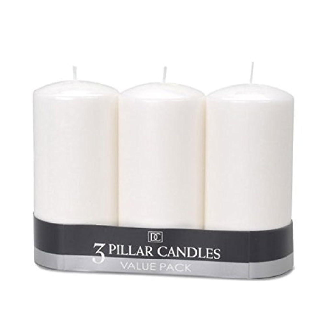 眠りグレード感心する(2) - DYNAMIC COLLECTIONS 3 Pillar Candles value pack, White 2pk