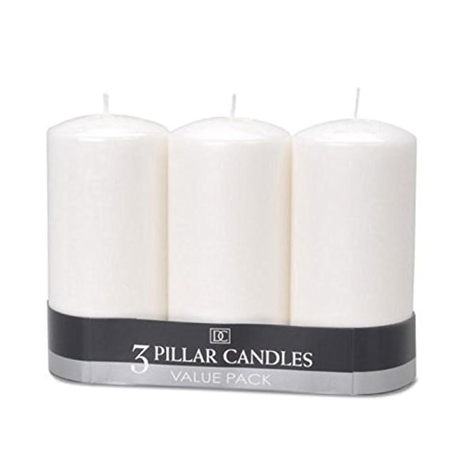 シガレットセミナー予言する(2) - DYNAMIC COLLECTIONS 3 Pillar Candles value pack, White 2pk