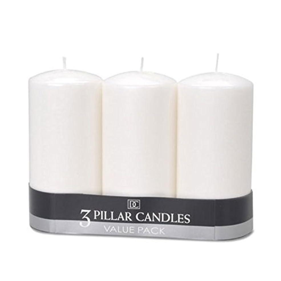 会社議題洞窟(2) - DYNAMIC COLLECTIONS 3 Pillar Candles value pack, White 2pk