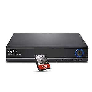 SANNCE(センス) 4CH防犯録画機 AHDデジタルレコーダー 720P DVR/NVR/HVR 3 in 1防犯レコーダースマートフォン遠隔監視対応 (HDD1000GB)