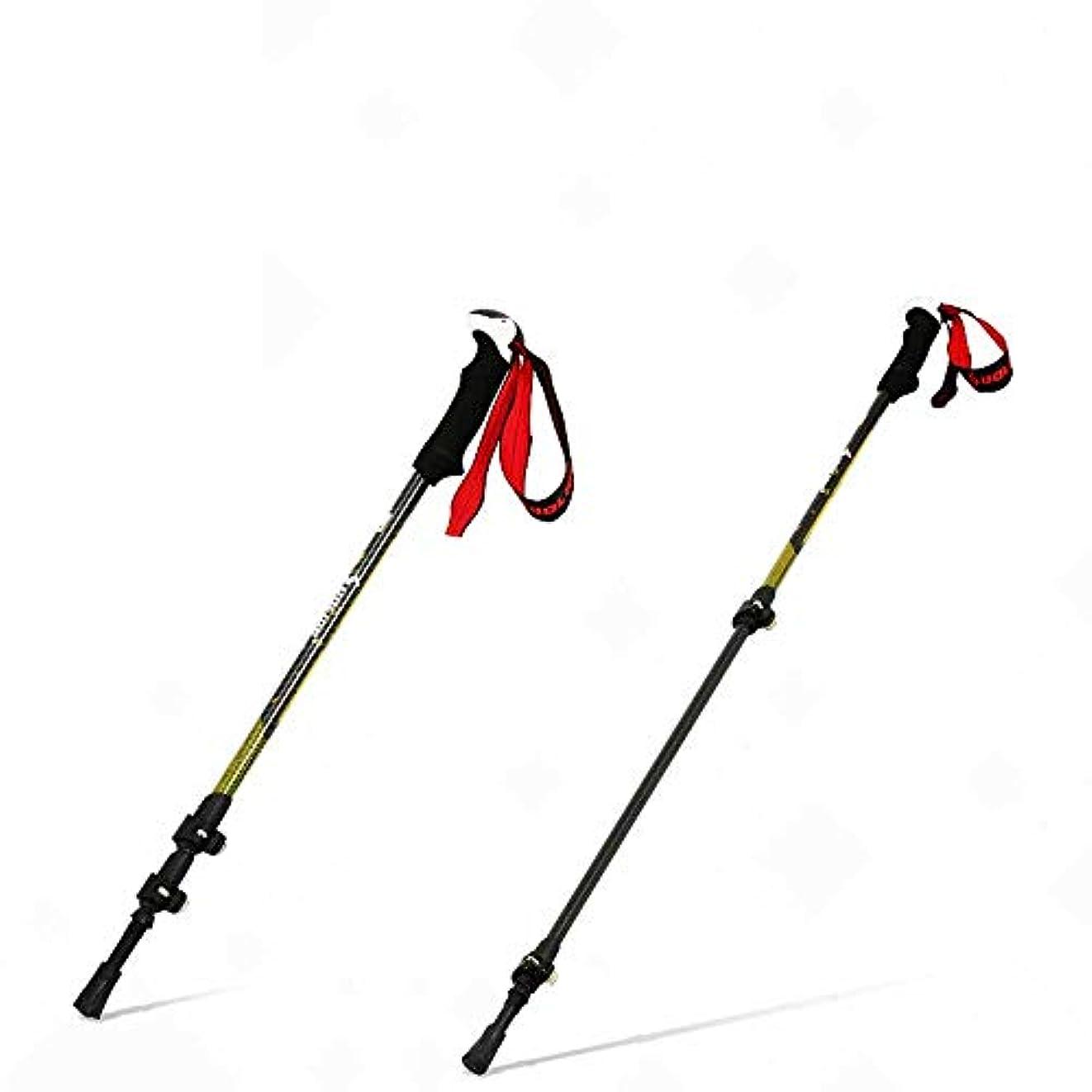 指定量で刈るトレッキングポール1ペア、3kカーボンファイバー、純重量180g、取り外し可能な保護カバー、ハイキングや旅行のための調整可能なリストバンド