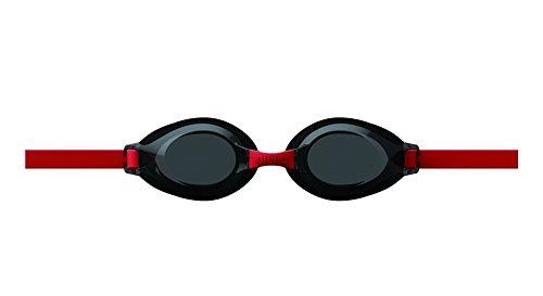 くもり止めジュニアスイムグラス キッズゴーグル「トレンティ」 FREE ブラック/スモーク/レッド 1本 DS AGL700J SMK