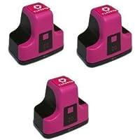 Elite Supplies互換インクジェットカートリッジ交換用 HP02 HP-02XL、HP C8721W、HP Photosmart (3マゼンタ) 3パック