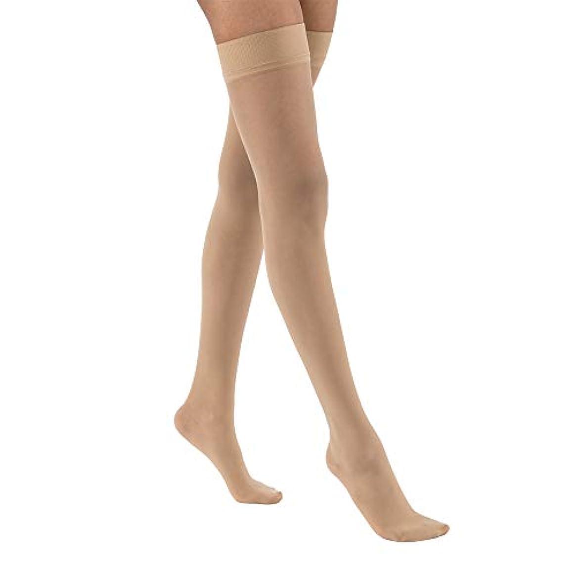 肖像画のホスト傷跡Jobst 122300 Ultrasheer Thigh Highs 15-20 mmHg with Silicone Dotted Top Band - Size & Color- Natural Small by...