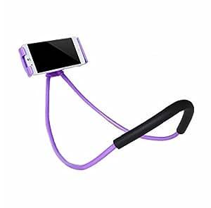 ユニバーサル360度回転柔軟な電話自撮りホルダーsnake-likeネックベッドマウント滑り防止