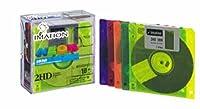 Imation 3.5 DS-HD IBM Pcフォーマット済みディスク ネオンカラー 10枚入り メーカー生産終了品