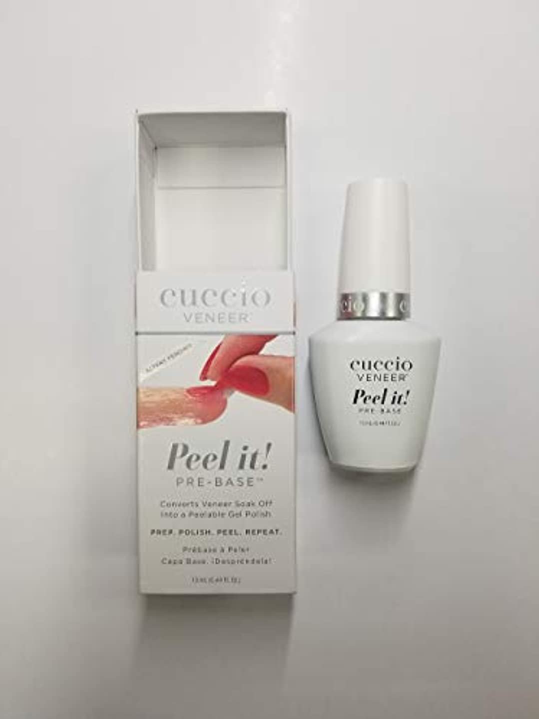 無礼にも年齢Cuccio Veneer - Peel It! Pre-Base - 13 mL / 0.44 oz