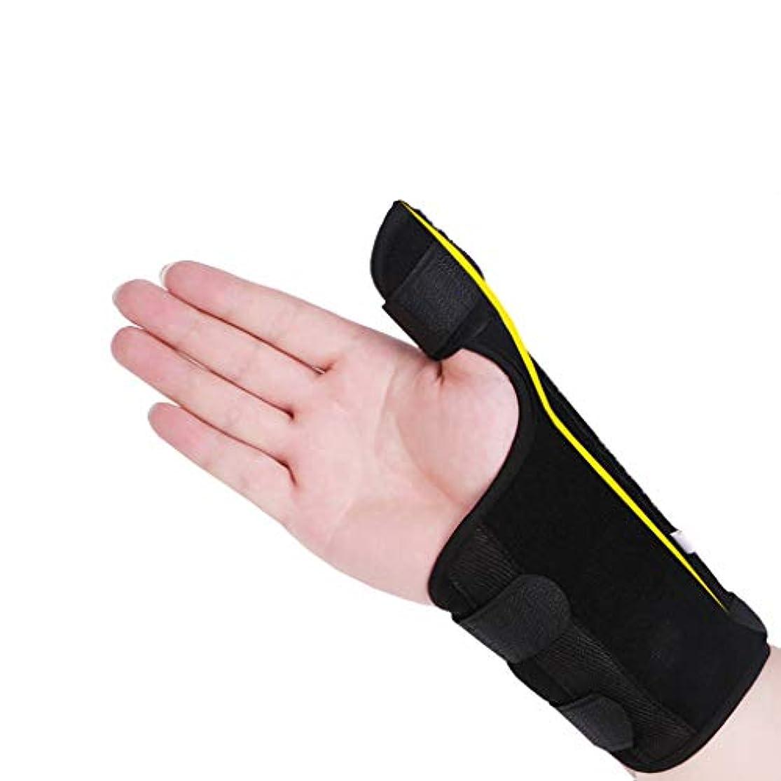 千敷居波親指サポートガード、軽量で通気性、関節の手根管のための作り付けの副木を使用して安定した無制限の柔らかいティッシュの傷害,Right,M