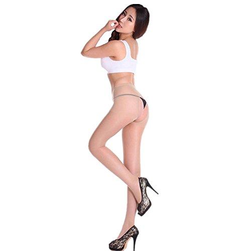 超セクシーな誘惑 女性のオープのカラー ストッキング 着圧ソックス パンティストッキング たくさんの色【2枚セット】 (スキン) -