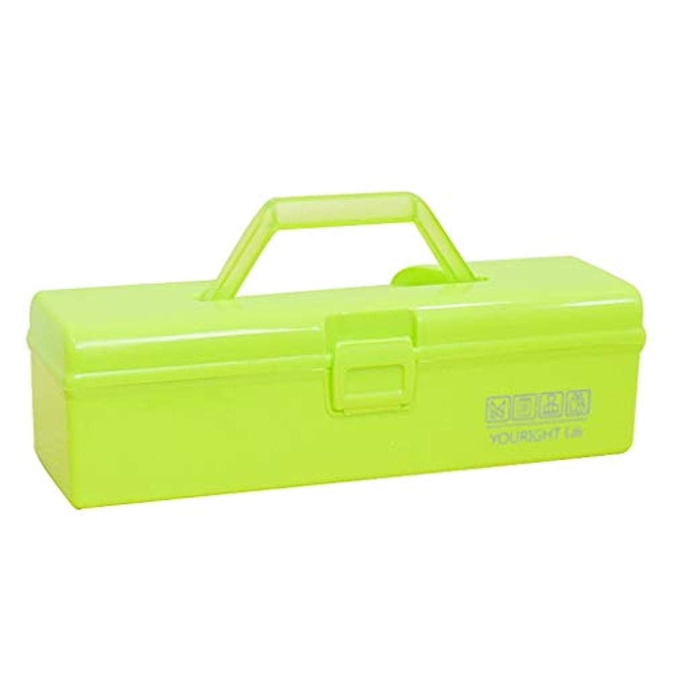 放置区別するセンブランスカラーベルトハンドル収納ボックス薬箱ツールボックス収納ボックス 薬箱 (Color : Green, Size : 30cm×9cm×9cm)