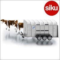 <ボーネルンド> Siku(ジク)社 輸入ミニカー2890 ファーマー 大型家畜運搬車 1/32スケールトラクター専用パーツ