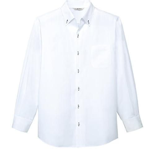 [チトセ]chitose【ボタンダウンシャツ(長袖)】スマートに演出(兼用)《031-EP-7923》 (SS, C-1 ホワイト)