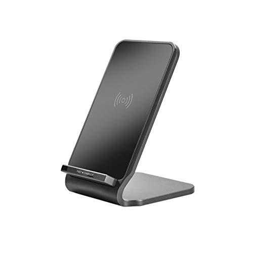新しい 金属金具の高速ワイヤレス充電 iPhoneのデスクトップ ワイヤレス充電のための10W ワイヤレス充電器 赤、黒、金