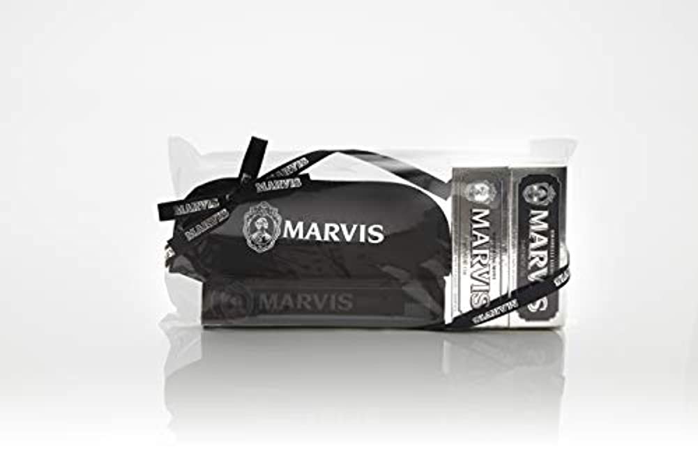 スコットランド人天使溢れんばかりのMARVIS(マービス) トラベル?セットDouble Flavors (歯みがき粉?歯ブラシ?ポー